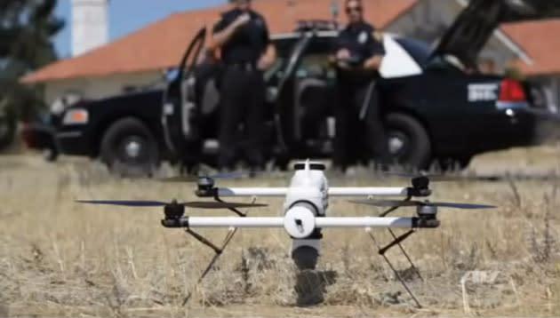 North Dakota cops use a drone to nab three suspects in a cornfield