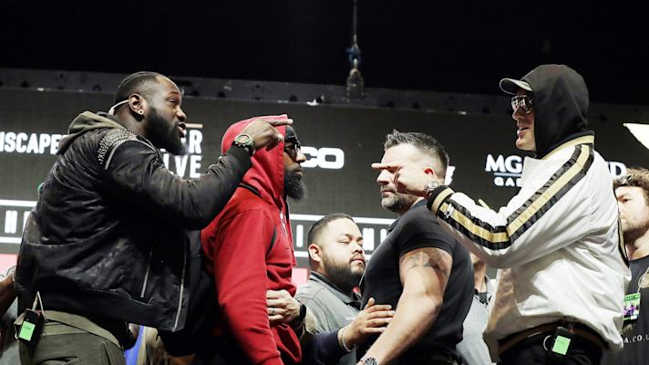 The Rush:Tyson Fury drops a 'yo momma' joke on Deontay Wilder at the weigh-in