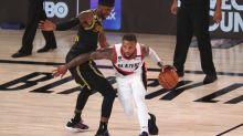 Portland's Lillard injures knee in Game 4 against Lakers