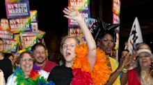 Elizabeth Warren had the time of her life marching at Las Vegas Pride parade
