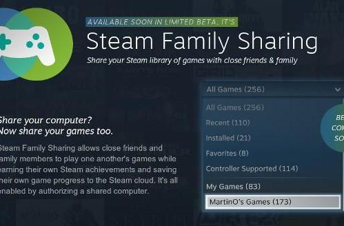 Steam announces Family Sharing beta, for lending out your digital downloads