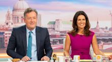 Piers Morgan jokes about Susanna Reid's cleavage-baring dress on 'GMB'