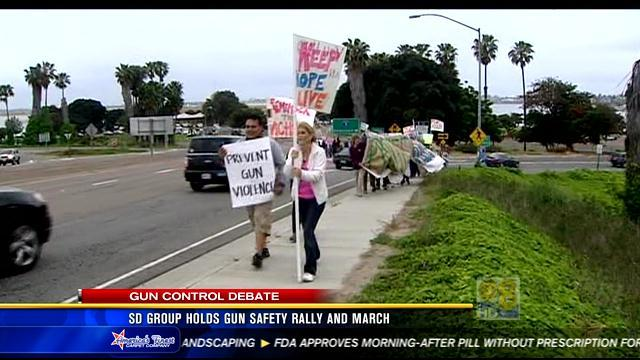 San Diego group holds gun safety rally and march