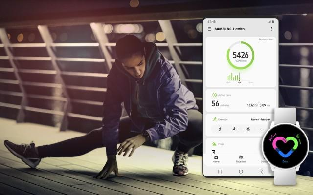 Samsung Health app on phones and watches