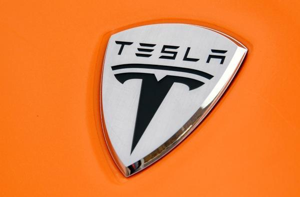 Tesla's 4-door, all-electric Model S sports sedan gets pictured