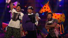 Ashton Kutcher, Danny Masterson, and James Corden Form a Dad Band