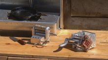 With a tiny knife forged from a nail, this Calgary artist cooks up miniature meals for free
