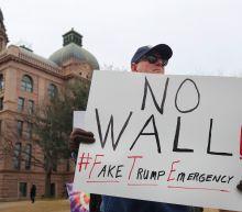 PHOTOS: Presidents Day protests decry Trump's emergency declaration