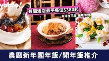 【團年飯2020】農曆新年團年飯/開年飯推介!最平每位$380起食桃膠/龍躉/金沙雞