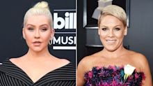 Christina Aguilera Denies She Tried to Punch Pink, But Says She Did Try to Kiss Her