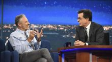 'Daily Show' Reunion: Stewart Tells Colbert He's a 'Potty Mouth'