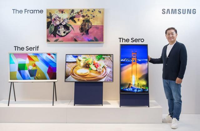 Samsung's vertical Sero TV brings Insta Stories to a big screen