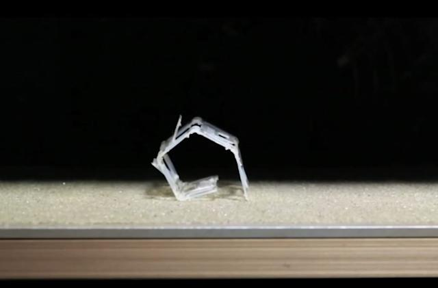 Self-folding 'Rollbot' changes its shape in response to heat