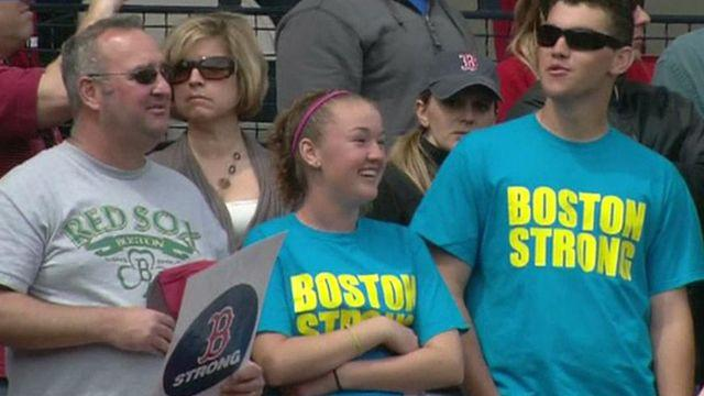 Tribute to victims and heroes of Boston Bombing at Fenway