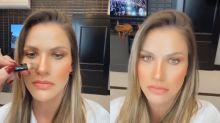 """Andressa Suita mostra truque de make para mudar nariz: """"Quase uma rinoplastia"""""""