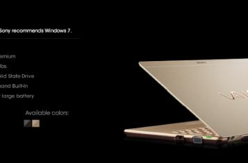 Sony VAIO X announced, starts at $1,299