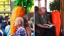 The story behind man who carries giant carrot around Melbourne