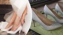 Bride's DIY wedding heels get mixed reactions online