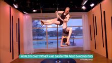 Father and daughter pole-dancing duo creeps viewers out