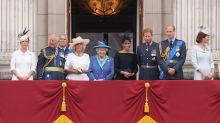 Royal family gathers on Buckingham Palace balcony for historic RAF flypast