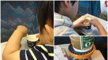 日本超硬雪糕「スジャータ」 父母搭新幹線恩物