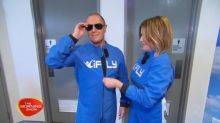 Larry and Kylie go virtual reality skydiving