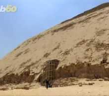 Climb down a 256-foot tunnel to explore Egypt's Bent Pyramid