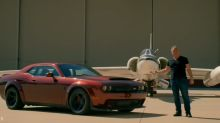 Matt LeBlanc proves a Dodge Demon is fast enough to land a NASA jet