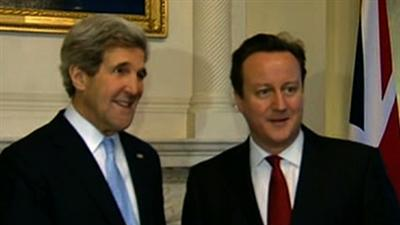Kerry in London, Meets Prime Minister Cameron