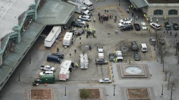New Jersey train rams into station, kills bystander, injures 114 others