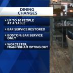 Dining restrictions being eased in some areas