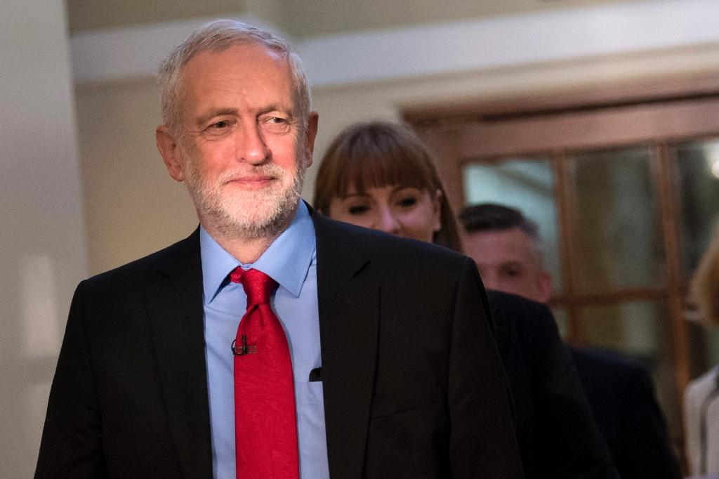 Labour leader Jeremy Corbyn has gradually nibbled away at the Conservative lead in the polls (AFP Photo/Justin TALLIS)