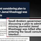 "Trump floats ""rogue killers"" on Khashoggi disappearance"