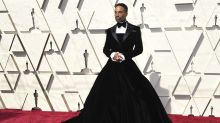 Billy Porter shuts down Oscars red carpet in velvet tuxedo gown