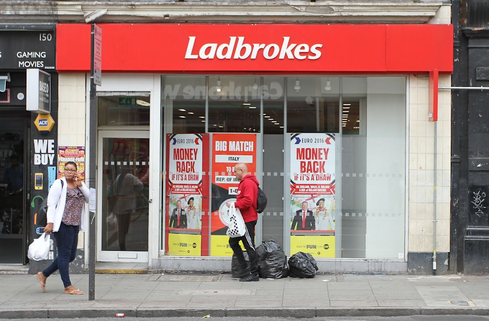 Betting parlors like this one in London are commonplace. (AP)