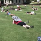 Georgia college students stage 'die-in' to protest school opening plans: 'We are not dispensable'