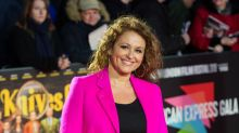 Nadia Sawalha recreates lingerie model's pose in festive body positive Instagram post