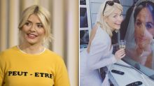 Holly Willoughby dusts off her bridal dress to celebrate royal wedding with her sisters