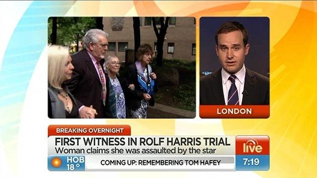 First witness in Rolf Harris trial