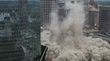 Spectacular implosion as Dominion Energy tower demolished in Virginia