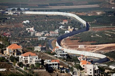FILE PHOTO: A general view picture shows the Lebanese village of Adaisseh on the left-hand-side of the Israel-Lebanon border, as seen from Kibbutz Misgav Am in northern Israel