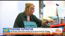 Teaching superstar retires after 40 years