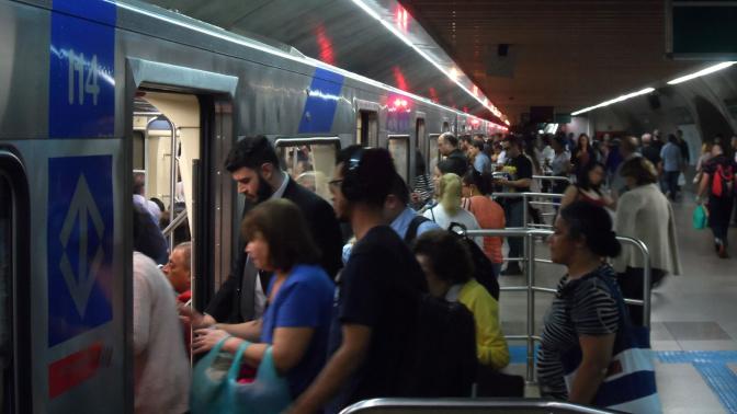 Metroviários fazem greve em São Paulo