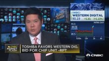 Toshiba favors Western Digital bid for chip unit: Reuters