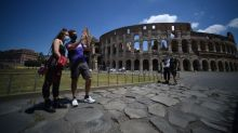 Few tourists -- but no gladiators -- at Rome's Colosseum
