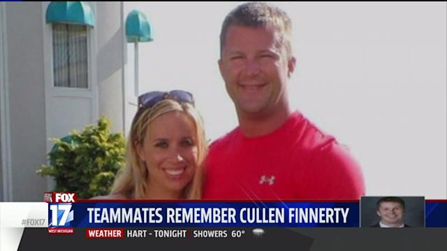 College Football Star`s Teammates Reflect on Death