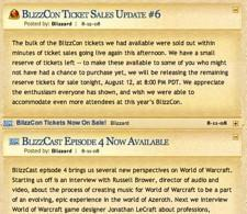 Last remaning BlizzCon tickets go on sale at 8:00 p.m. PDT tonight