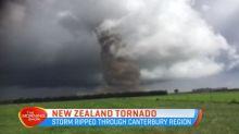 New Zealand hurricane caught on camera