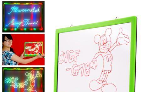 LED Illuminated Message Board makes ordinary messages psychedelic