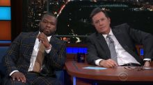 50 Cent starts a beef between Stephen Colbert and Jimmy Kimmel, Bobby Flay